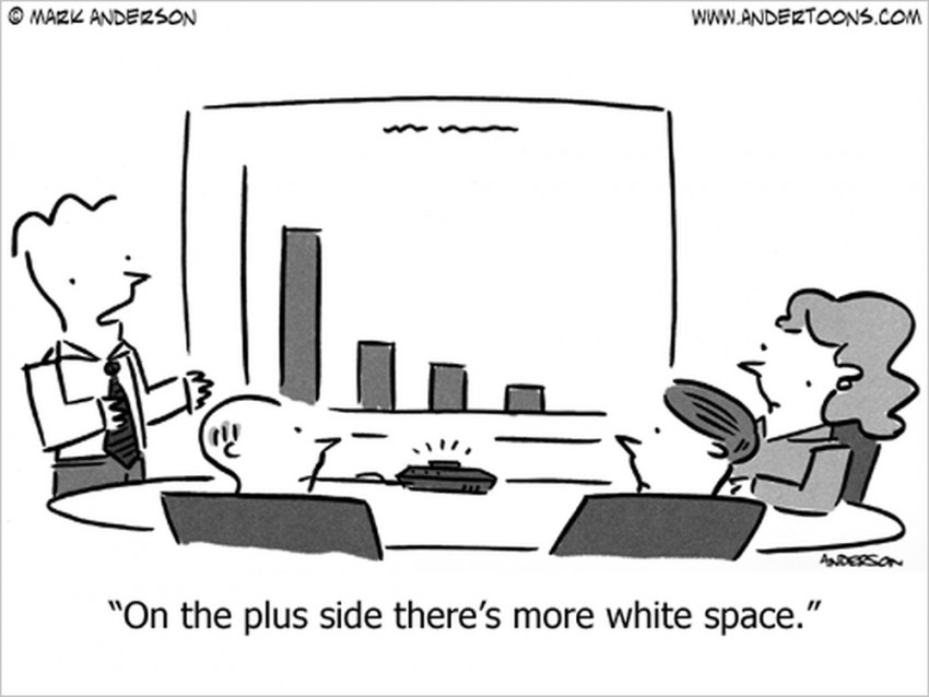 low sales cartoon