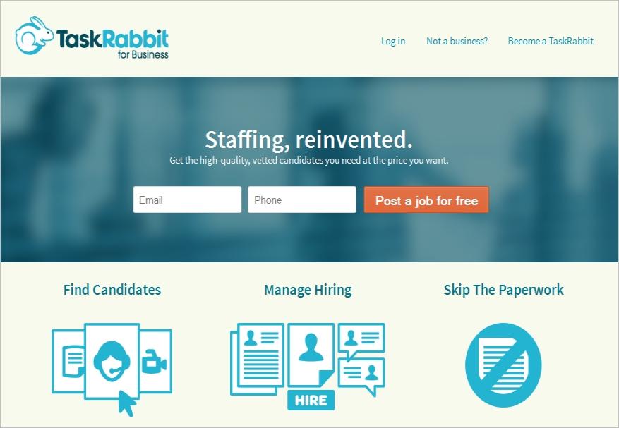 TaskRabbit for Business: Online Alternative to a Temporary