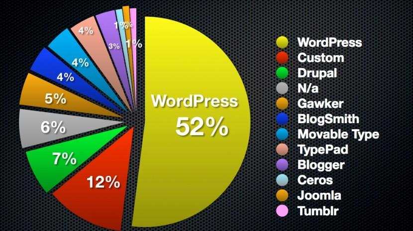 Wordpress dominates top 100 blogs