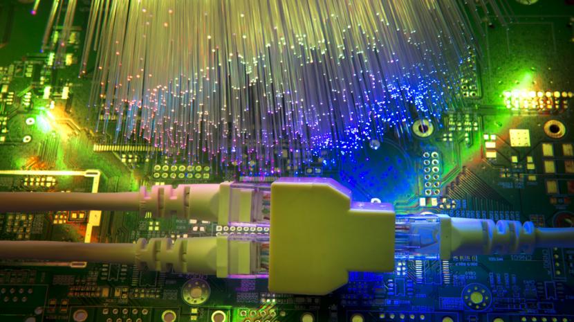Ethernet fiber connection