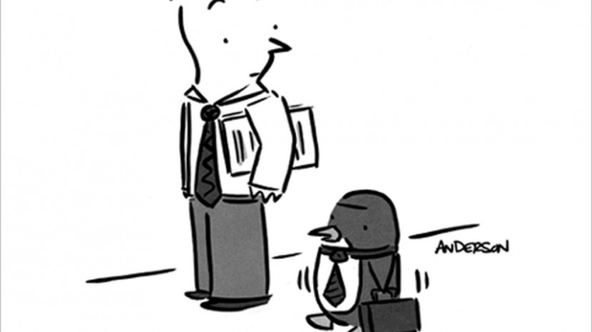 executive penguin cartoon