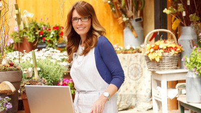 Small business woman at work
