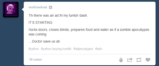 Tumblr sponsored posts reaction #1