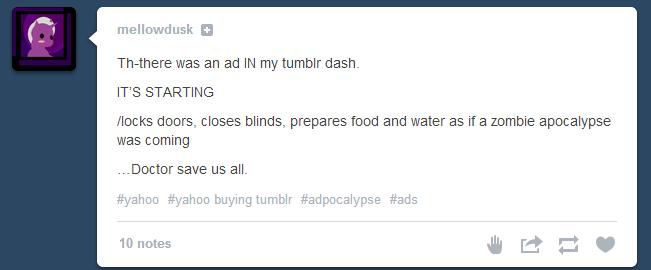 Tumblr sponsored posts reaction #1