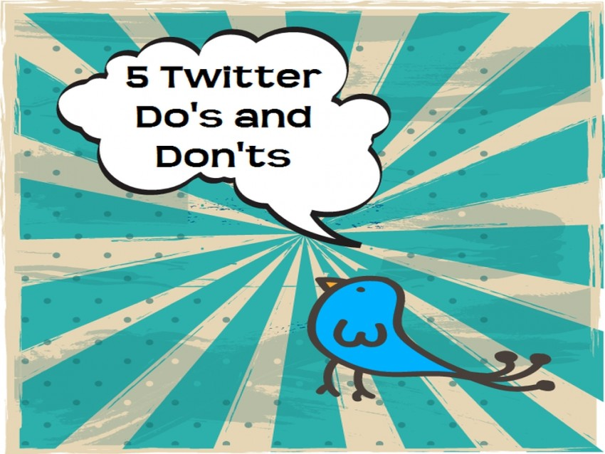 twitter do's and don'ts