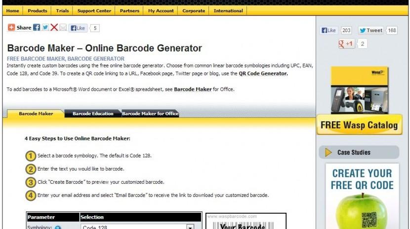 Wasp barcode generator