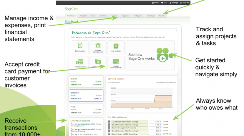 Sage One small business