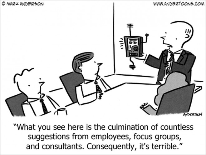focus groups business cartoon