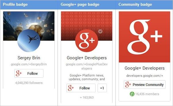 google badges