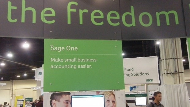 Sage One small business accounting booth at Sage Summit