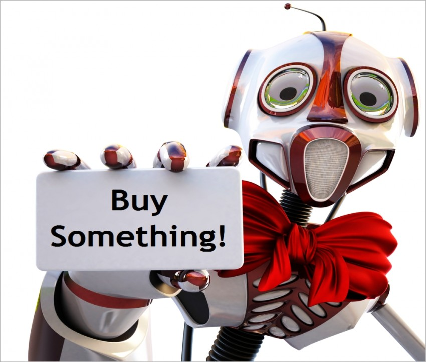Image result for robot salesman