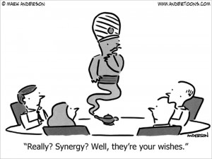 synergy business cartoon