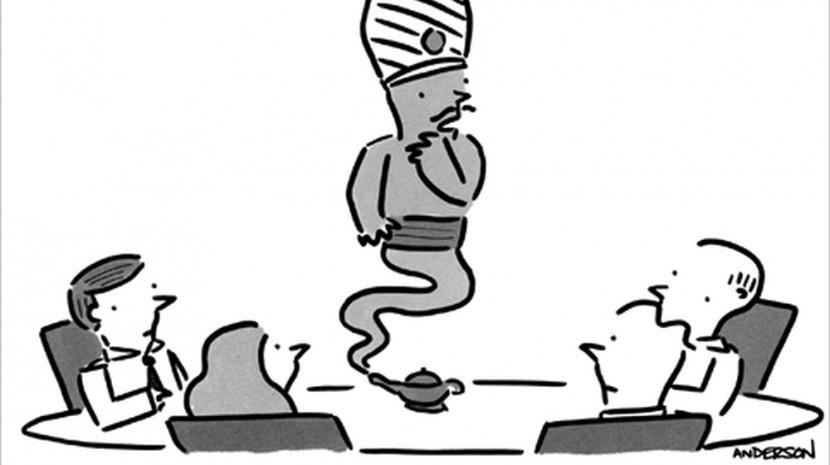 synergy business cartoon