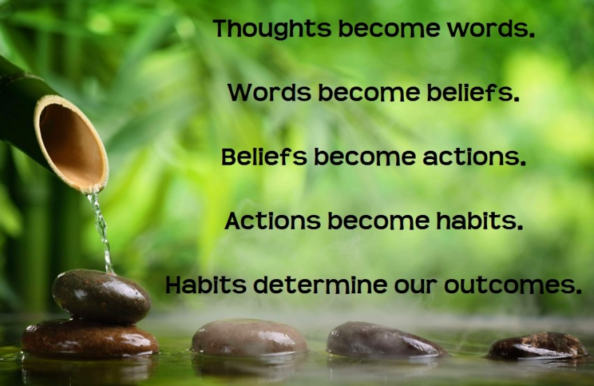 thoughts become words