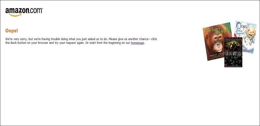 Amazon error placeholder page
