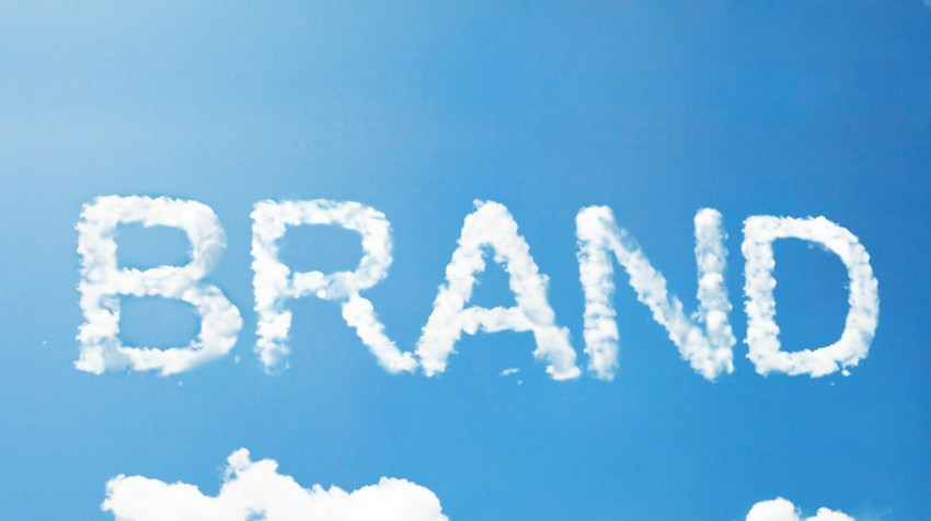 brand in clouds