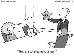 game changer business cartoon