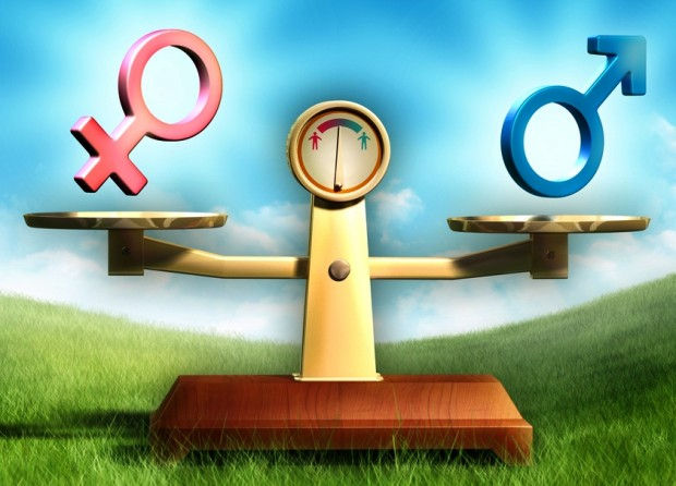 men and women in small business