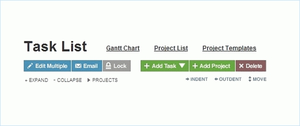 WorkZone Task List screenshot