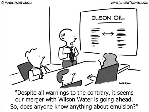 merger cartoon