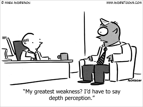 job interview employment cartoon