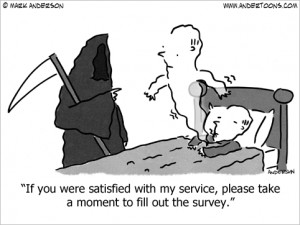 satisfaction survey cartoon