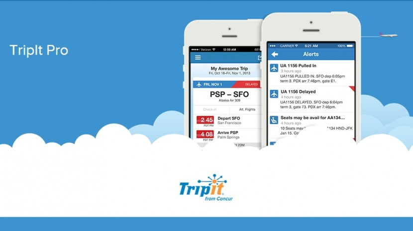 Tripit travel aps