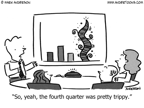 fourth quarter business cartoon
