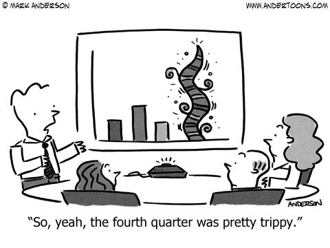 fourth quarter business cartoon