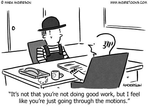 going through the motions cartoon