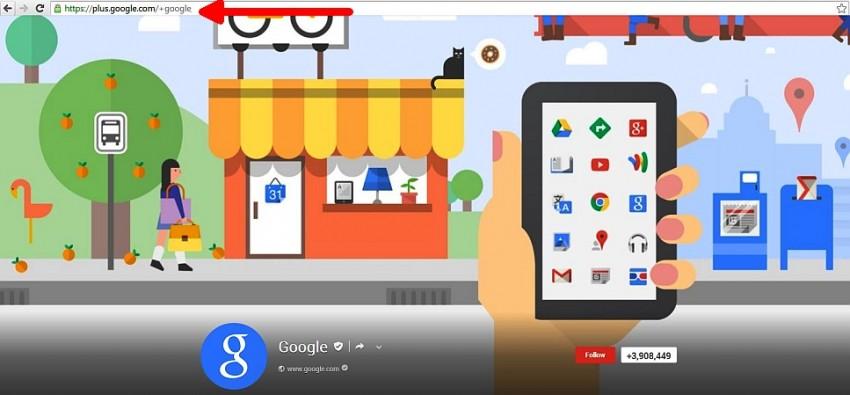google plus custom url2