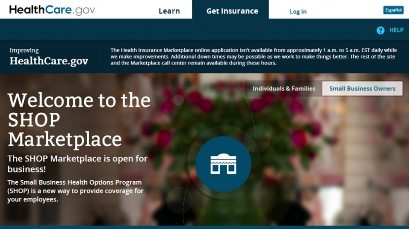 Healthcare.gov small business shop exchanges