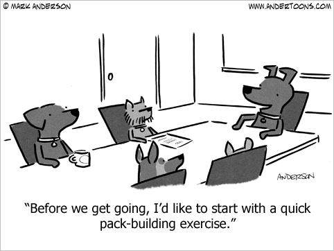 team building cartoon