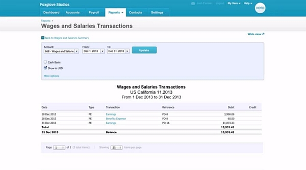 payroll in xero