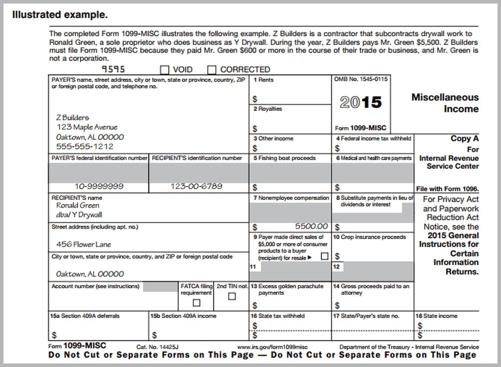 fillable 1099 misc 2016 blank 1099 form - Dean.routechoice.co