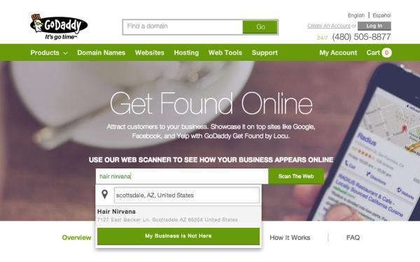 GoDaddy's Get Found Updates Small Business Information Online