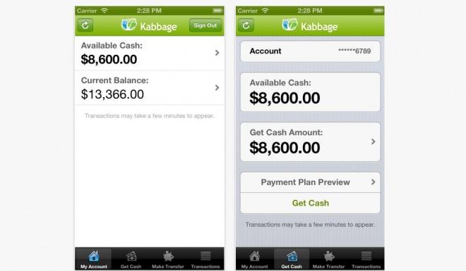 Kabbage mobile lending app