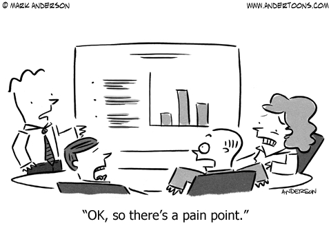 pain point cartoon