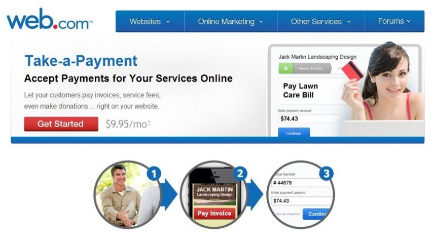MasterCard and Web.com Offer Payment Solution Take-A-Payment