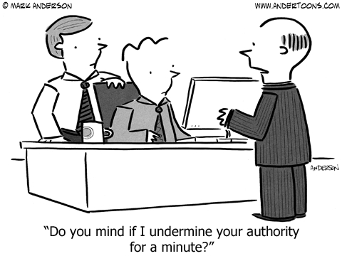 undermine authority cartoon