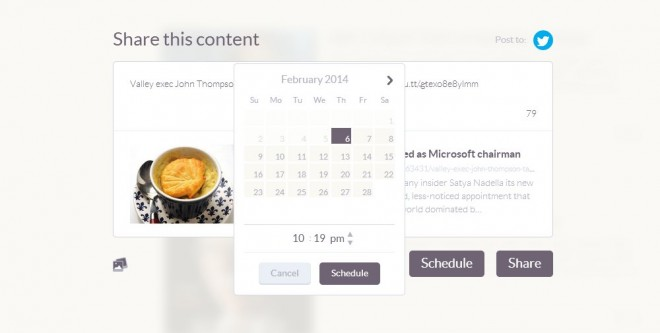 Klout social media scheduling