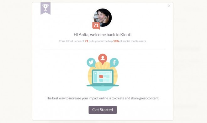 New Klout features