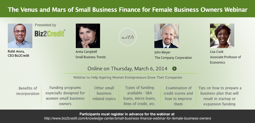 Ladies: Join us to Learn About Financing For Your Business - Small Business Trends