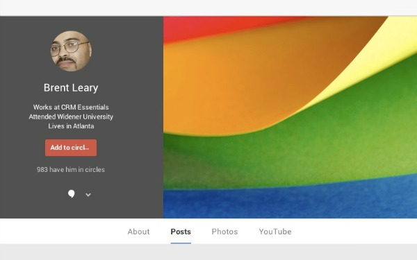 authors on google+