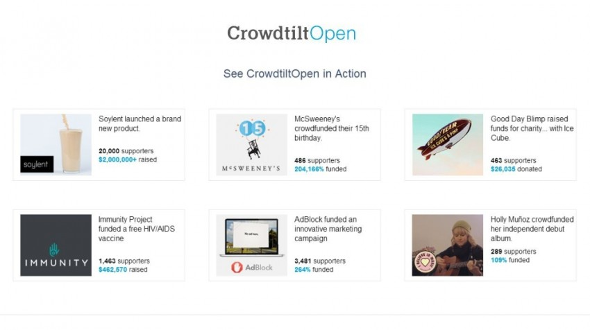 CrowdtiltOpen Allows Free Crowdsourcing on Your Own Domain