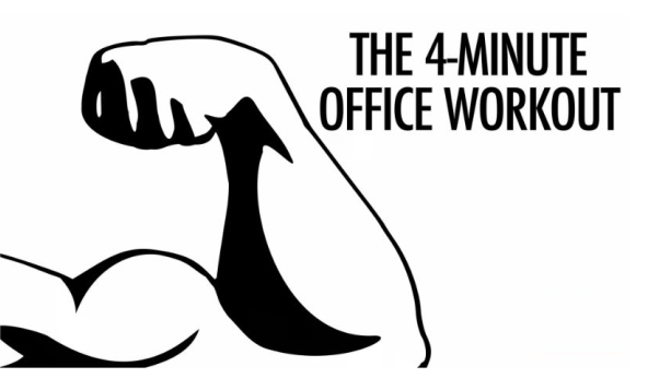 4 minute office workout