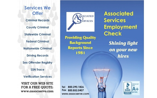 associated Services Employment Check