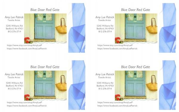 blue door red gate