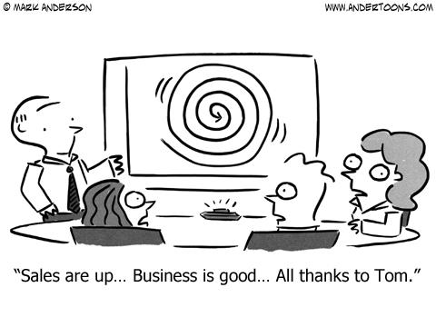 sale meeting cartoon