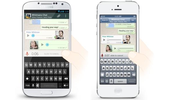 voice chat whatsapp